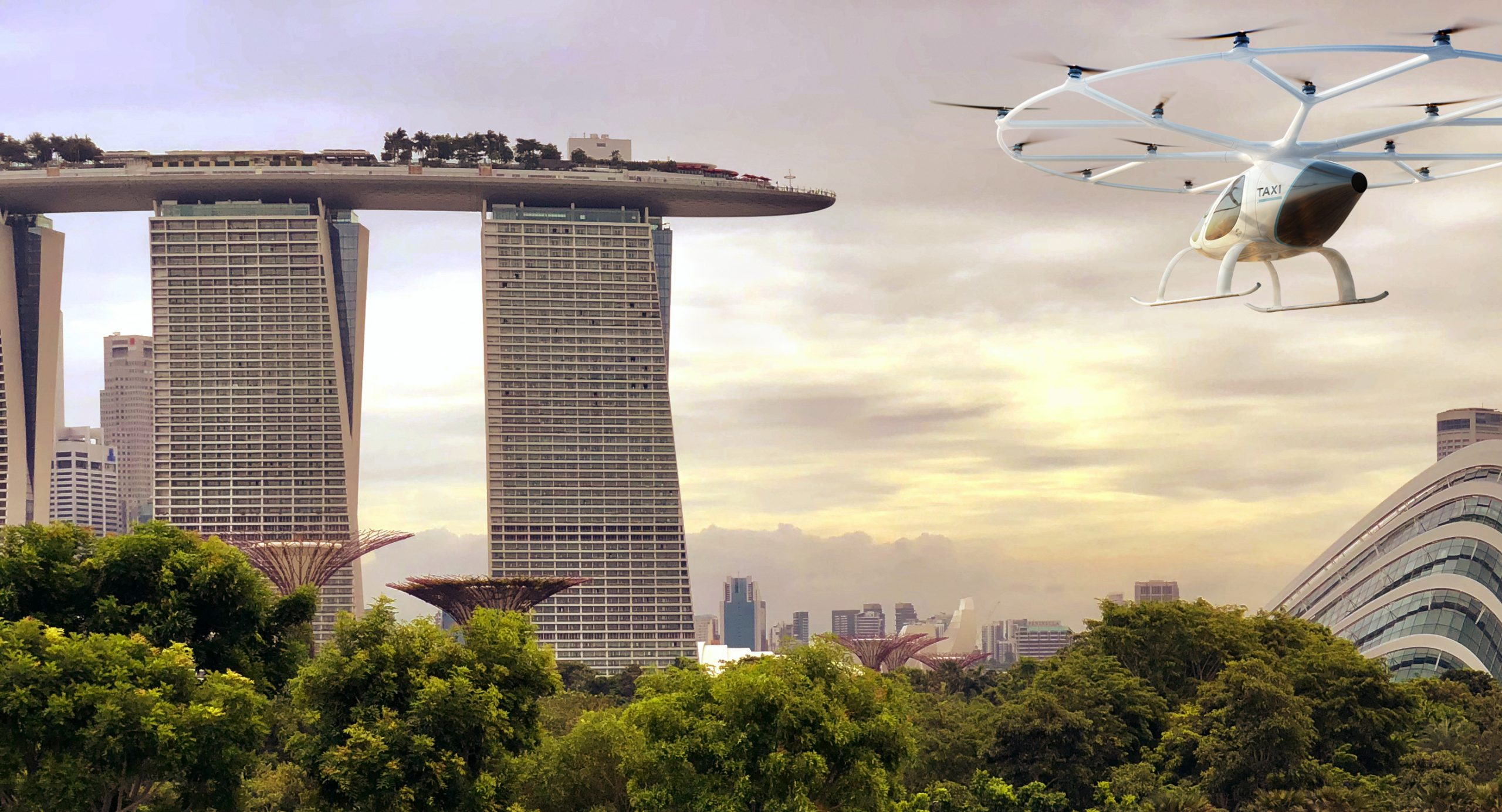 Flight Tests in Singapore for Volocopter's Air Taxis